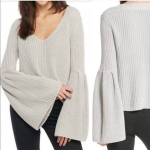 Free People Damsel Ribbed Knit Pullover Sweater